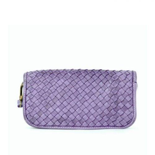 SIMONETTA Woven Wrist Wallet Lilac