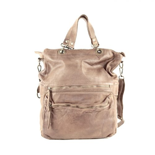 GINEVRA 2in1 Shopper/Crossbody Bag Light Taupe