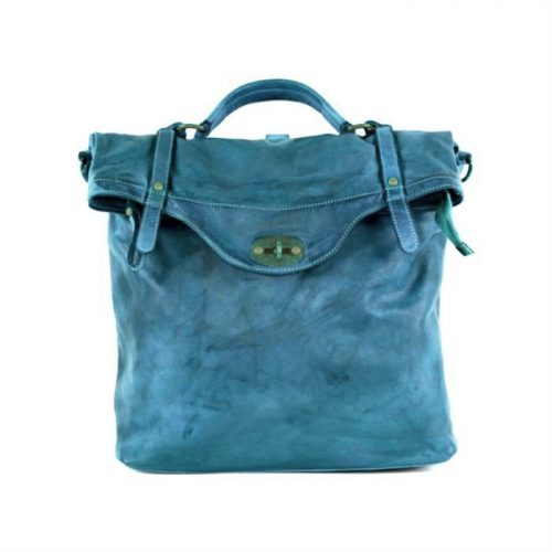SARA Rucksack With Metal Lock Teal