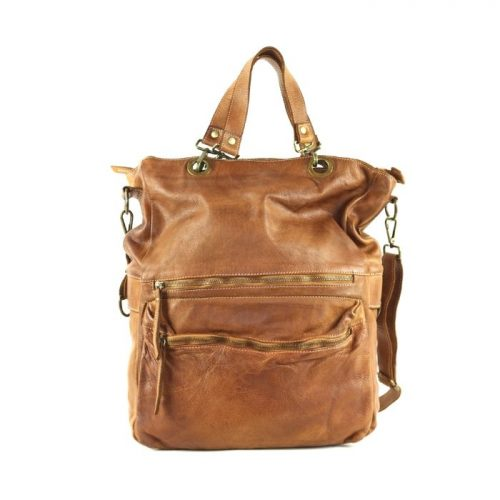 GINEVRA 2in1 Shopper/Crossbody Bag Tan