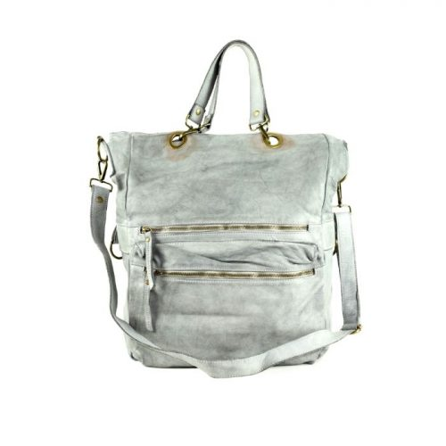 GINEVRA 2in1 Shopper/Crossbody Bag Light Grey