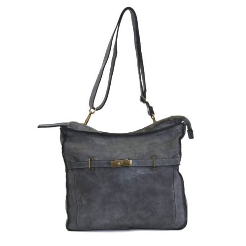 MIRIAM Crossbody Bag With Locket Dark Grey