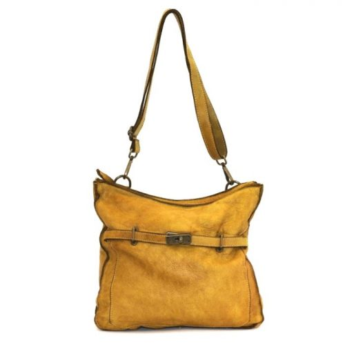 MIRIAM Crossbody Bag With Locket Mustard