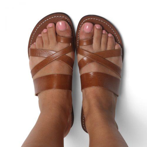 Ponza Leather Sandals – Tan