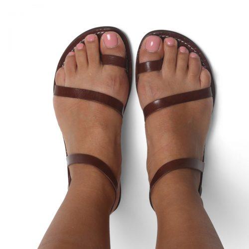 Ischia Leather Sandals – Chocolate