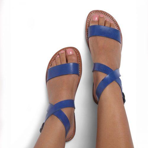 Capri Leather Sandals – Blue Size 6 (LAST PAIR)
