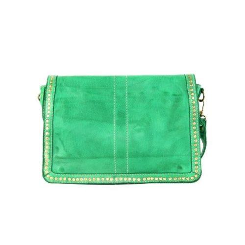SILVINA Small Cross-body Bag With Studs Emerald