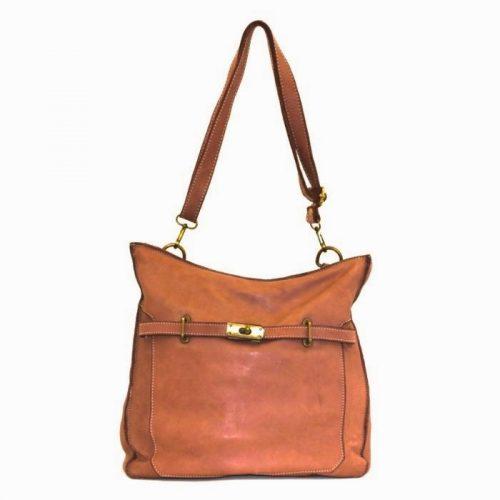 MIRIAM Crossbody Bag With Locket Tan