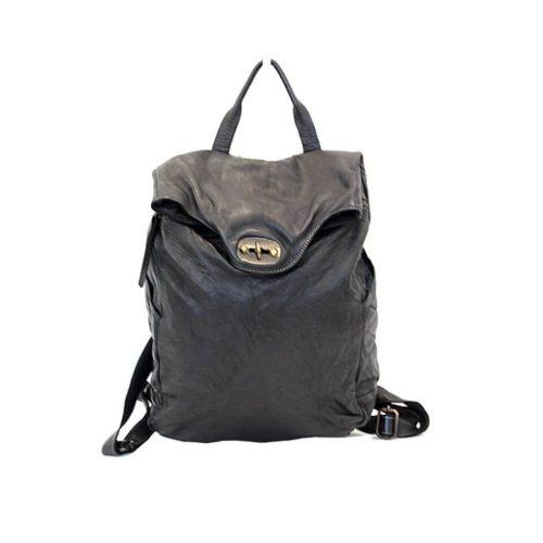 AURORA Backpack With Lock Black