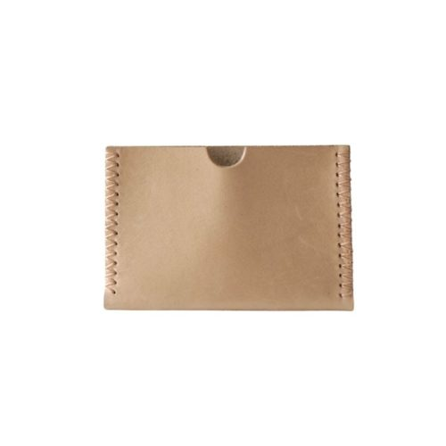 Leather Card Holder Beige