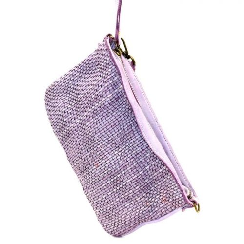 CLAUDIA Woven Wristlet With Wave Effect Lilac