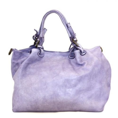 LUCIA Smooth Leather Tote Bag Lilac