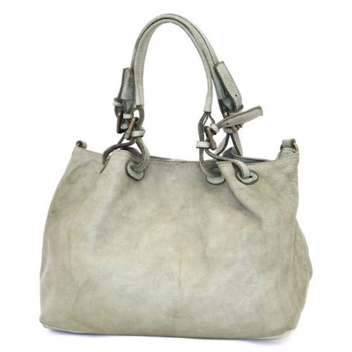 LUCIA Smooth Leather Tote Bag Mint