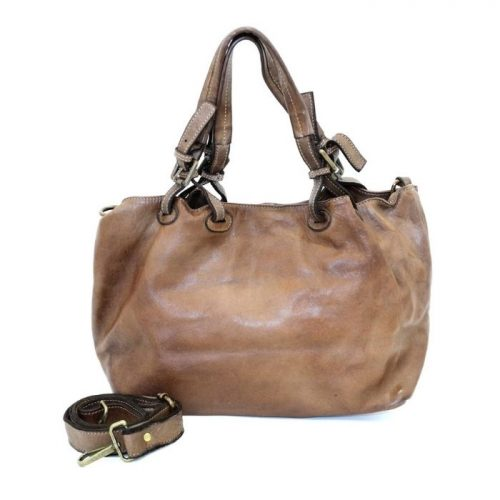BABY LUCIA Small Tote Bag Smooth Dark Brown