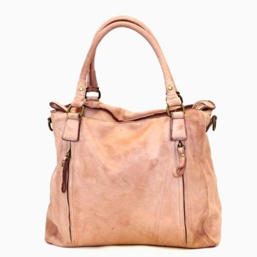 FLAVIA Square Handbag With 2 Zipped Pockets Blush