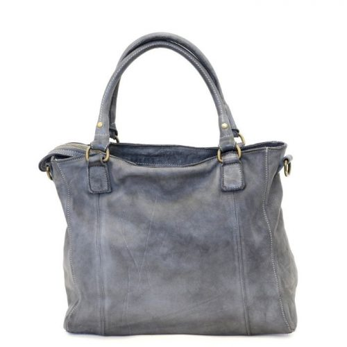 FLAVIA Square Handbag With 2 Zipped Pockets Dark Grey
