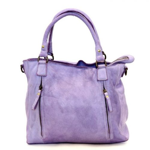 FLAVIA Square Handbag With 2 Zipped Pockets Lilac