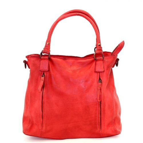 FLAVIA Square Handbag With 2 Zipped Pockets Red