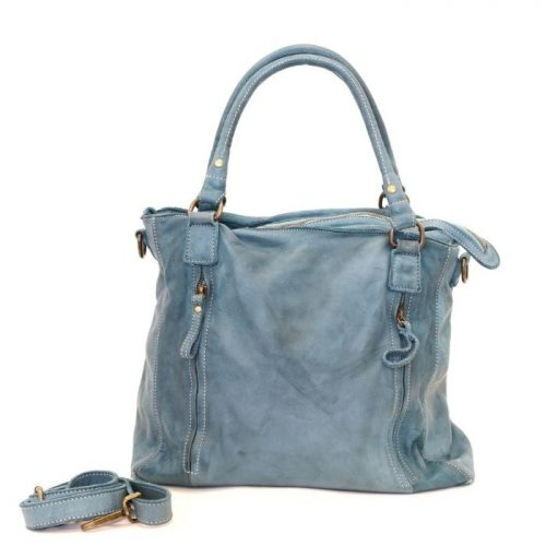 FLAVIA Square Handbag With 2 Zipped Pockets Teal