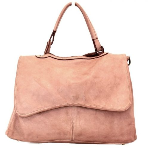 MIA Handbag With Curved Flap Blush