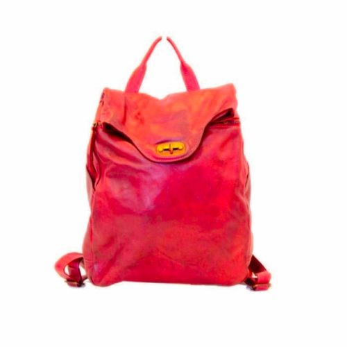 AURORA Backpack With Lock Red