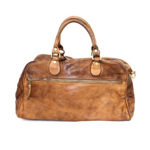 ANTHEA Leather Duffle Bag Tan