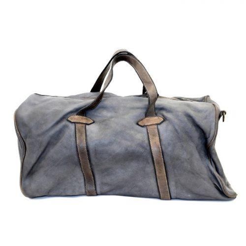 GAIA Leather Travel Bag Dark Grey