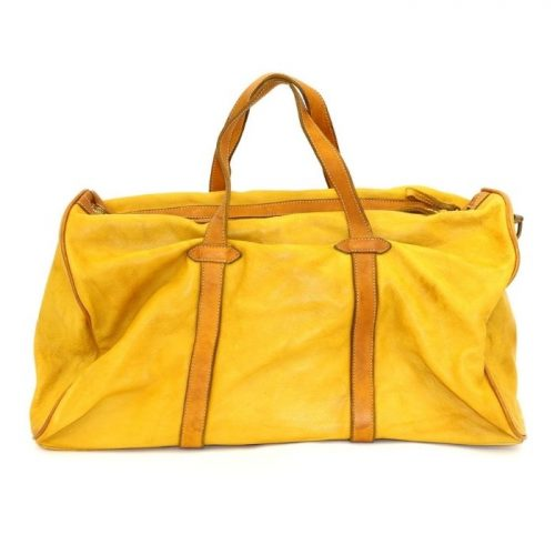 GAIA Leather Travel Bag Mustard
