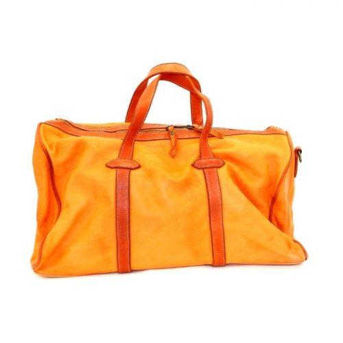 GAIA Leather Travel Bag Orange