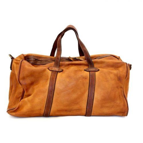 GAIA Leather Travel Bag Tan
