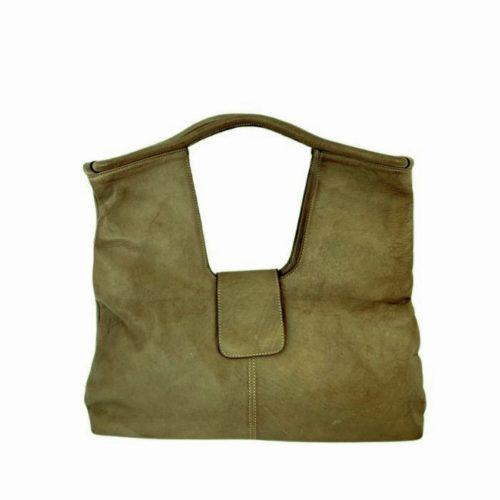 ALESSIA Square Shoulder Bag Dark Green