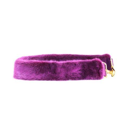Fur Shoulder Strap Purple