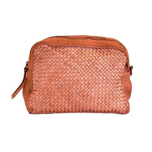 NICOLETTA Woven Crossbody Bag Terracotta