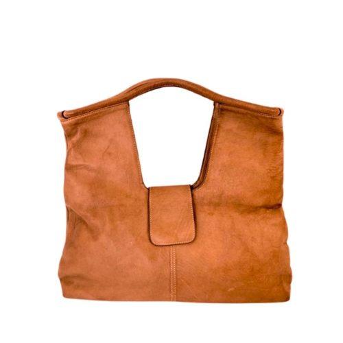 ALESSIA Square Shoulder Bag Tan