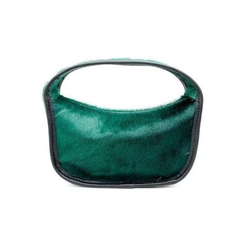 TIFFY Pony Hair Small Hand Bag Forest Green