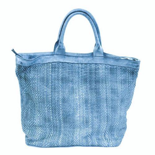 CHIARA Wave Weave Tote Bag Denim