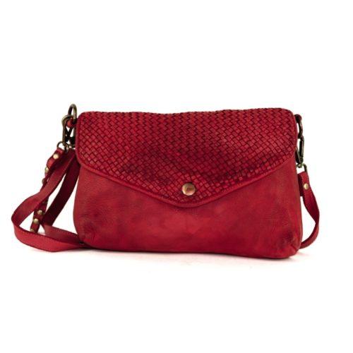 LAVINIA Envelope Clutch Bag Bordeaux