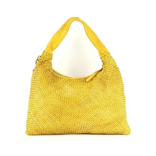 ANNA Woven Shoulder Bag Mustard