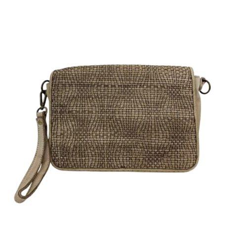 SILVINA Wave Weave Cross-body Bag Light Taupe