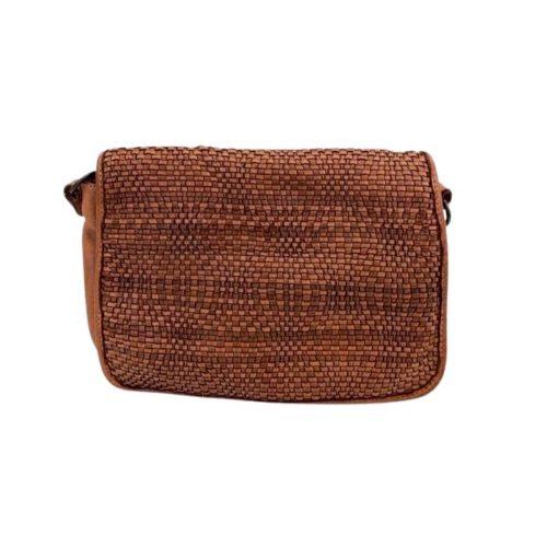 SILVINA Wave Weave Cross-body Bag Terracotta