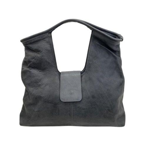 ALESSIA Square Shoulder Bag Dark Grey