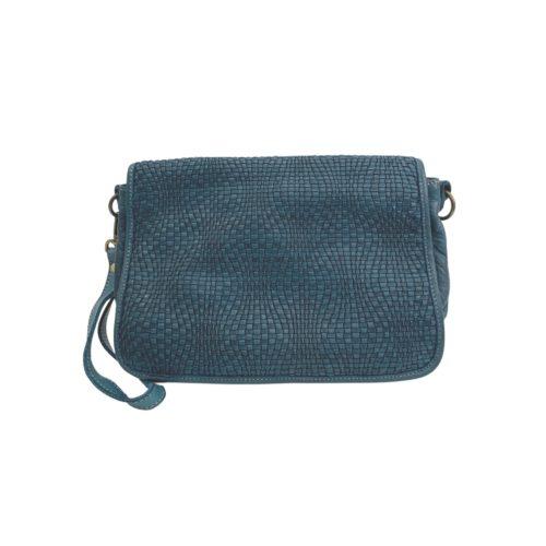SILVINA Wave Weave Cross-body Bag Teal