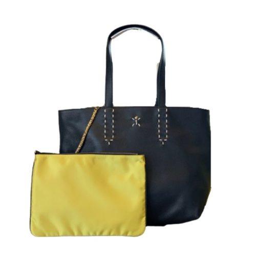 PATTY Reversible Tote Bag Black/Lime