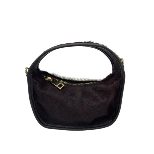 TIFFY Pony Hair Small Hand Bag Liquorice