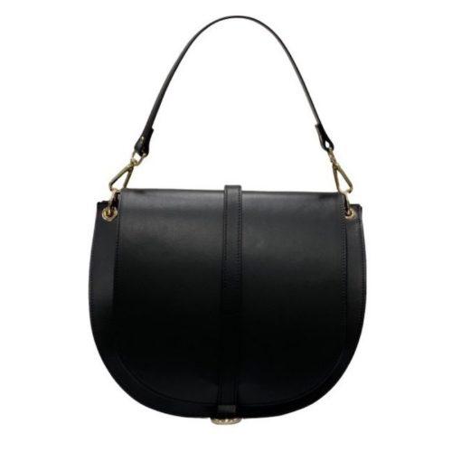 VITTORIA Large Saddle Bag Black
