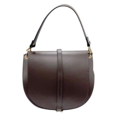 VITTORIA Large Saddle Bag Dark Brown