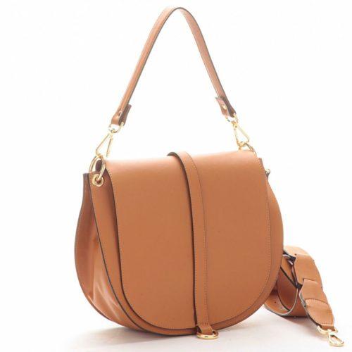 VITTORIA Large Saddle Bag Tan