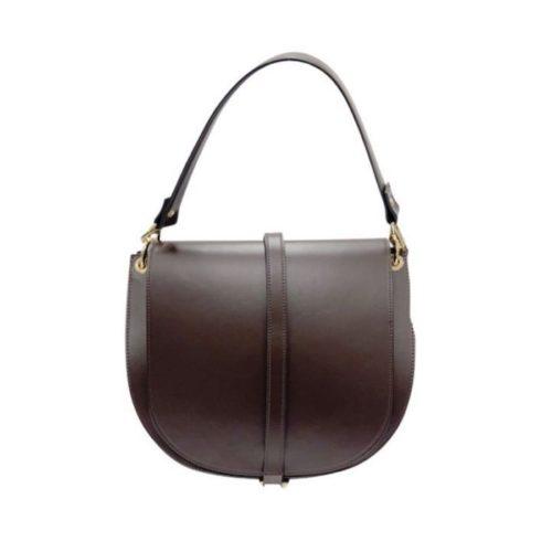 VITTORIA Medium Saddle Bag Dark Brown