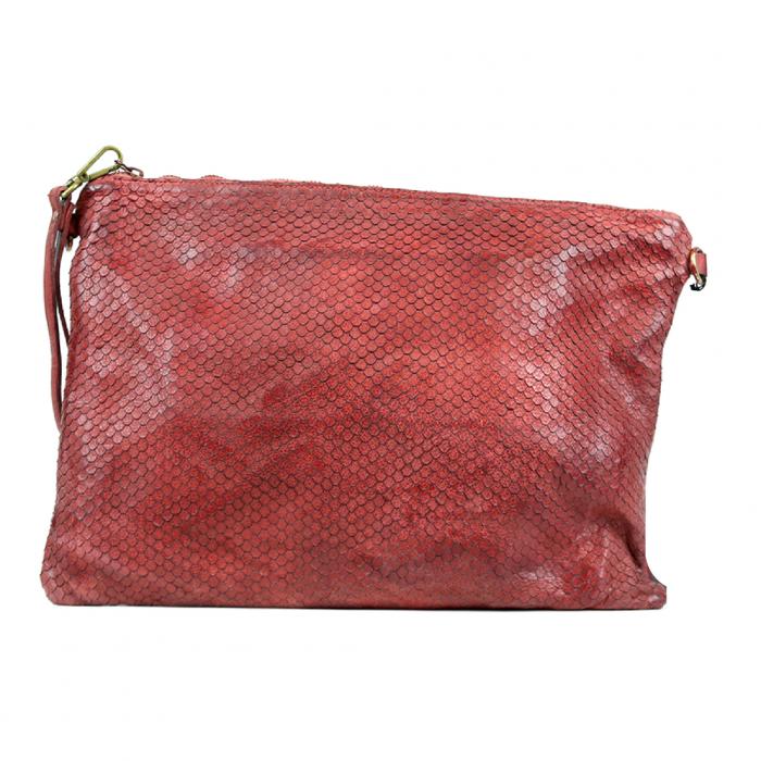 GIORGIA Textured Large Clutch Bag bordeaux