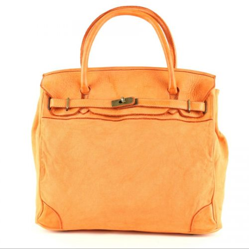 ALICIA Structured Bag With Canvas Inserts Orange
